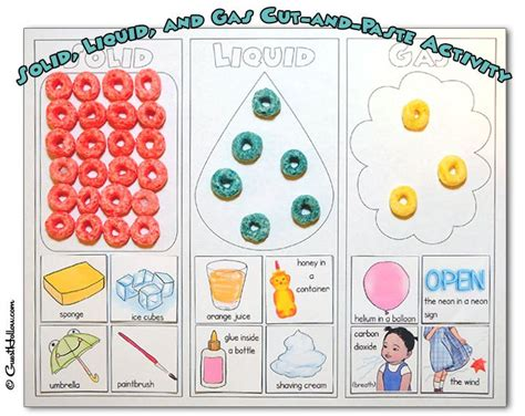 Solids, Liquids, and Gases – Printable Activity | Guest ...
