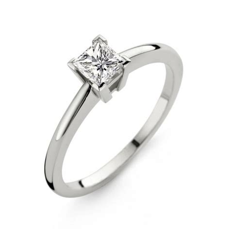 Solitaire Diamant Princesse - Bijoux par Private Diamond ...