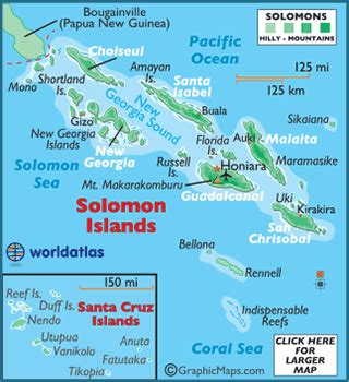 Solomon Islands Map / Geography of the Solomon Islands ...