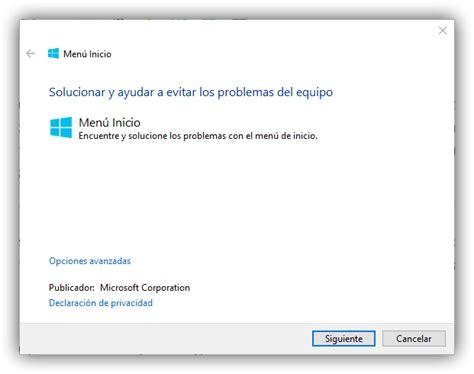 Soluciona los problemas con el menú inicio de Windows 10 ...