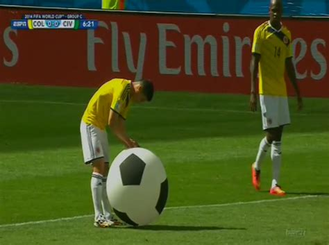 Somebody kicked a giant inflatable soccer ball onto the ...