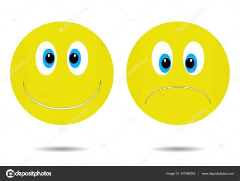 Sonriente, alegre y triste — Archivo Imágenes Vectoriales ...