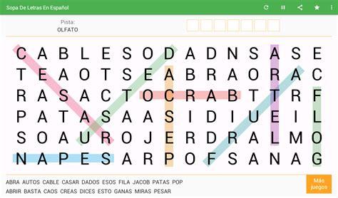 Sopa de Letras Español Gratis   Aplicaciones de Android en ...