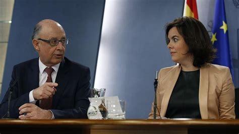 Soraya  contraprograma  la declaración de Rajoy en la ...
