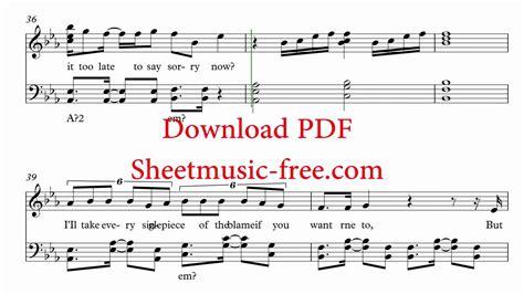 Sorry Sheet Music Justin Bieber Piano Sheet music Free PDF ...