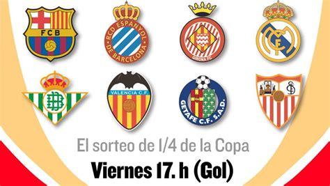 Sorteo Copa del Rey: Horario y dónde ver en TV el sorteo ...