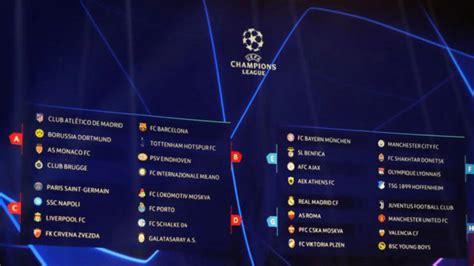 Sorteo de Champions League 2018-2019: Calendario de la ...