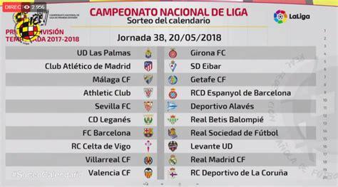 Sorteo del calendario de LaLiga 2017 2018