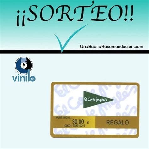 Sorteo Tarjeta Regalo 30€ El Corte Inglés | SORTEOS 2015 ...