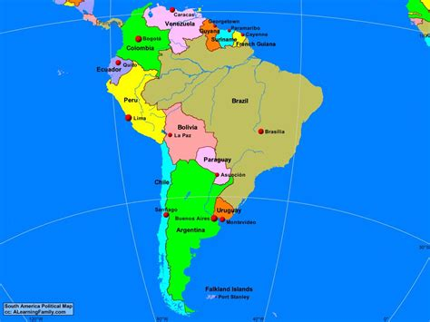 South America: Political Map - A Learning Family