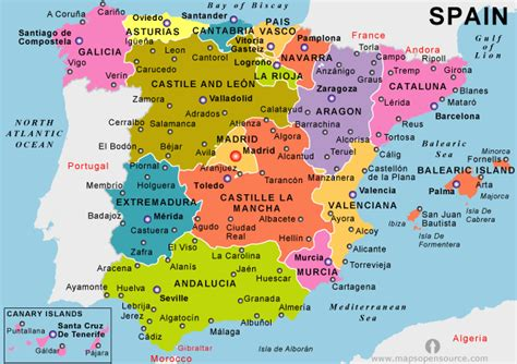 Spain Country Profile | Free Maps of Spain | Open Source ...