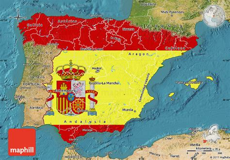 spain map and flag – World Map, Weltkarte, Peta Dunia ...