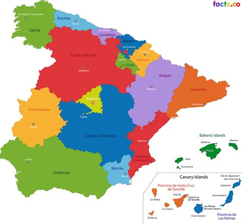 Spain Map   blank Political Spain map with cities | span 4 ...