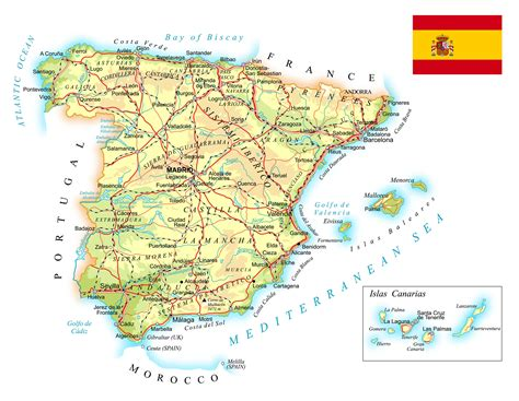 Spain Map - Guide of the World