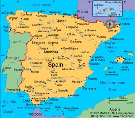 Spain Map | Infoplease