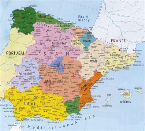 Spain Map   Spain • mappery