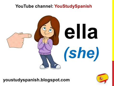 Spanish Lesson 9   SUBJECT PRONOUNS in Spanish Yo Tú Usted ...