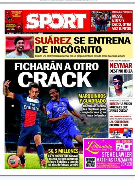 Spanish newspaper Sport tells Barcelona fans to expect at ...