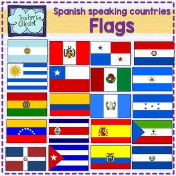 Spanish speaking countries FLAGS Banderas Países ...
