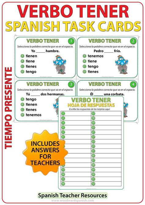 Spanish Task cards to practice the conjugation of the verb ...