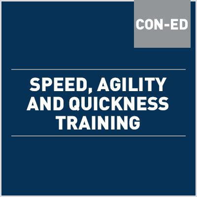 Speed, Agility and Quickness Training Online Course