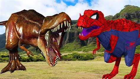 Spiderman Dinosaur Vs Dinosaurs Fight Dinosaurs Movies For ...