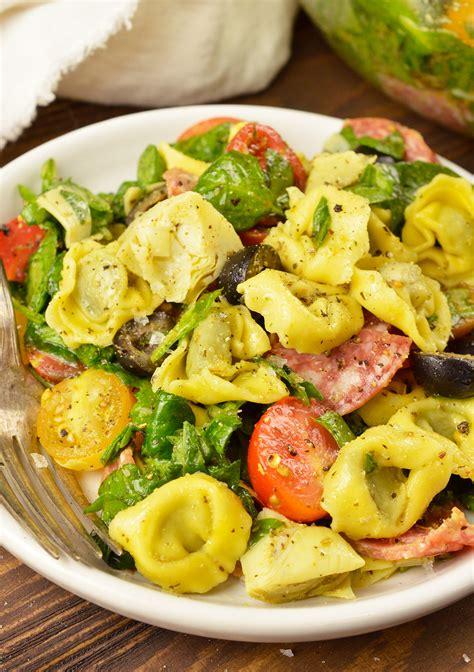 Spinach Tortellini Italian Pasta Salad Recipe   video ...
