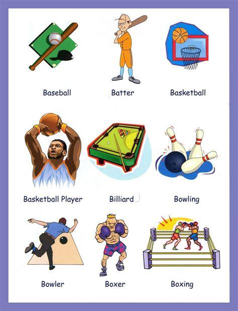 sports | English learning | Pinterest | Vocabulario