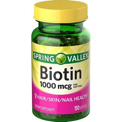 Spring Valley Biotin Softgels, 1000 mcg, 150 count ...