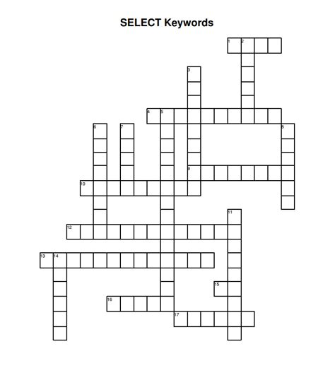 SQL Crossword #2 SELECT Keywords - SQLServerCentral