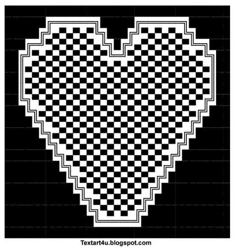 Square Hearts Copy Paste Text Art   Cool ASCII Text Art 4 U