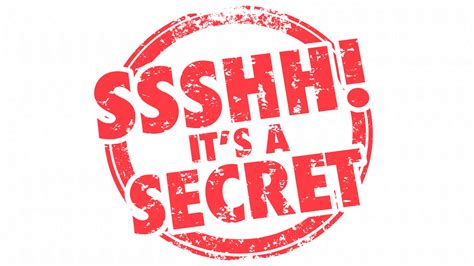 Ssshh Its a Secret Classified Confidential Personal Stamp ...