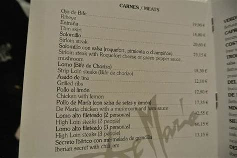 メニュー   Picture of Parrilla de Maria, Madrid   TripAdvisor