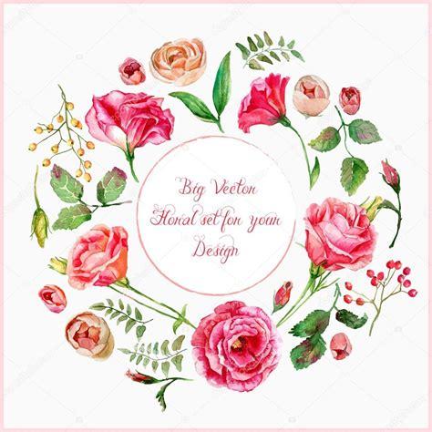 디자인에 대 한 다른 빨간색, 분홍색 꽃의 벡터 설정 — 스톡 벡터 © inna73 #67144303
