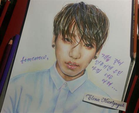 방탄소년단의 전정국 /BangTan / BTS Jeon JungKook drawing (by Elena ...