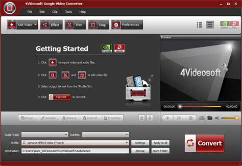 Версия для печати > 4Videosoft Google Video Converter v5.0 ...