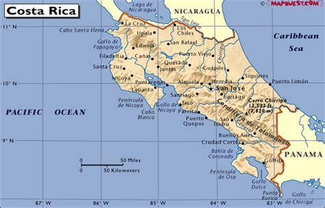 哥斯达黎加地图   最专业的签证团队