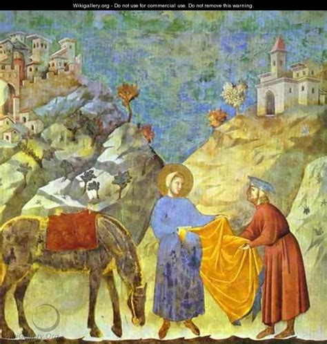 St Francis Giving His Cloak To A Poor Man 1295 1300 ...