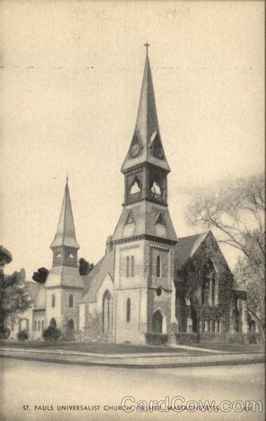 St. Pauls Universalist Church palmer, MA Postcard
