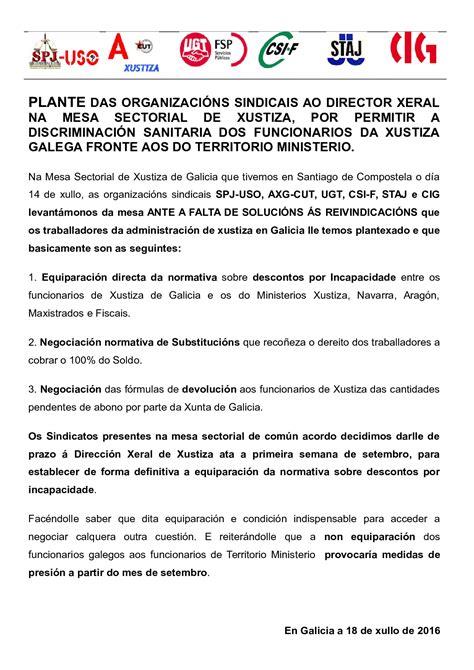 STAJ GALICIA: Plante dos Sindicatos ó Director Xeral pola ...