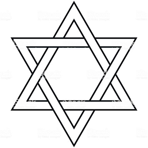 Star Of David Icon Vector Symbol Israel Judaism Stock ...