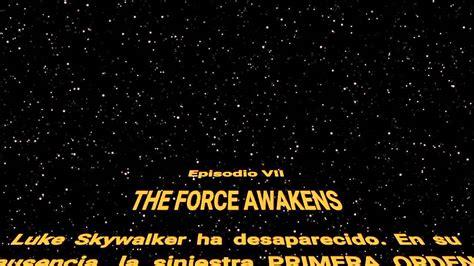 Star wars 7 intro español - YouTube