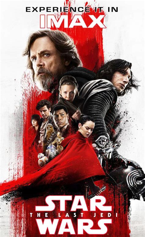Star Wars 8 IMAX Last Jedi poster Rey fate Dark Side red ...