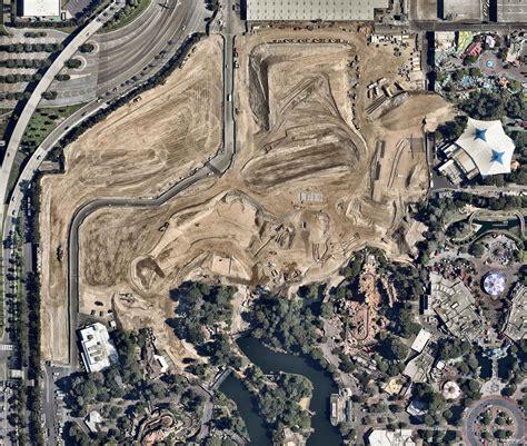 Star Wars Land construction aerial photo at Disneyland ...