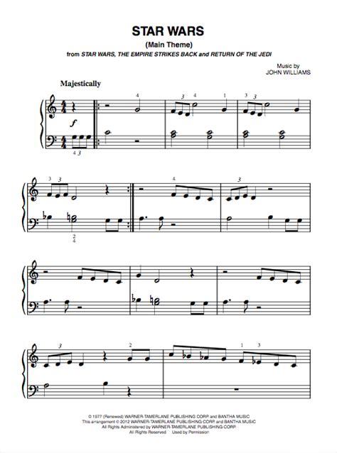 Star Wars Main Theme   Piano Sheet Music  PDF    Bluebird ...