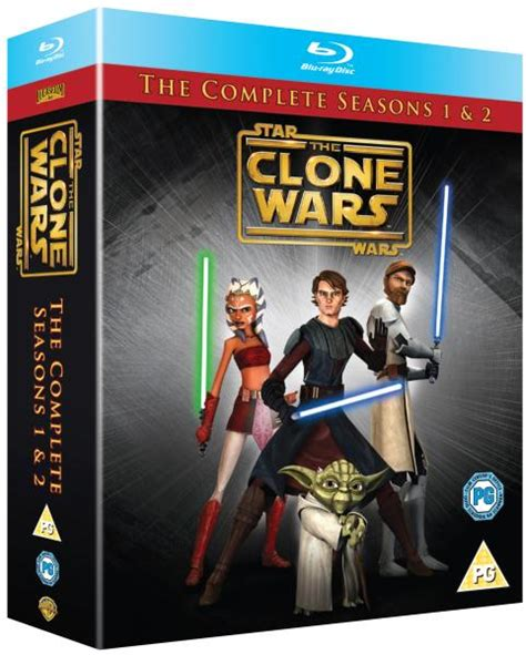 Star Wars: The Clone Wars - Seasons 1-2 Complete Blu-ray ...