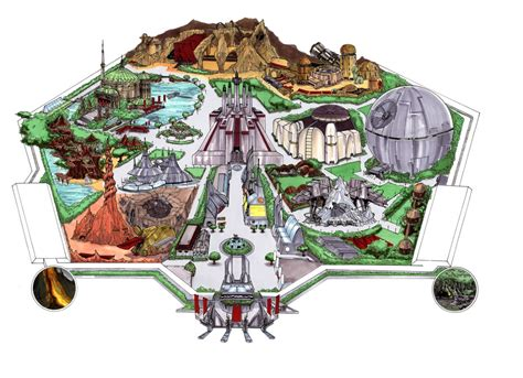 Star Wars Universe Dream Park (Map Original), in Tom ...