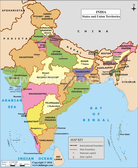 State map of India | India Map with States