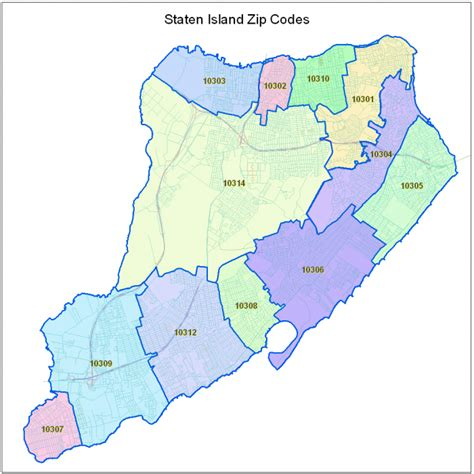 Staten Island Zip Code Map   Jorgeroblesforcongress