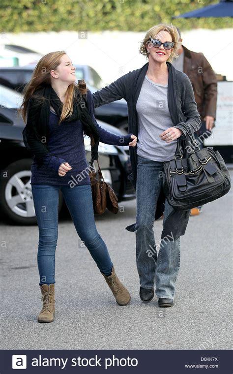 Stella Banderas, Melanie Griffith leaving Uno salon after ...